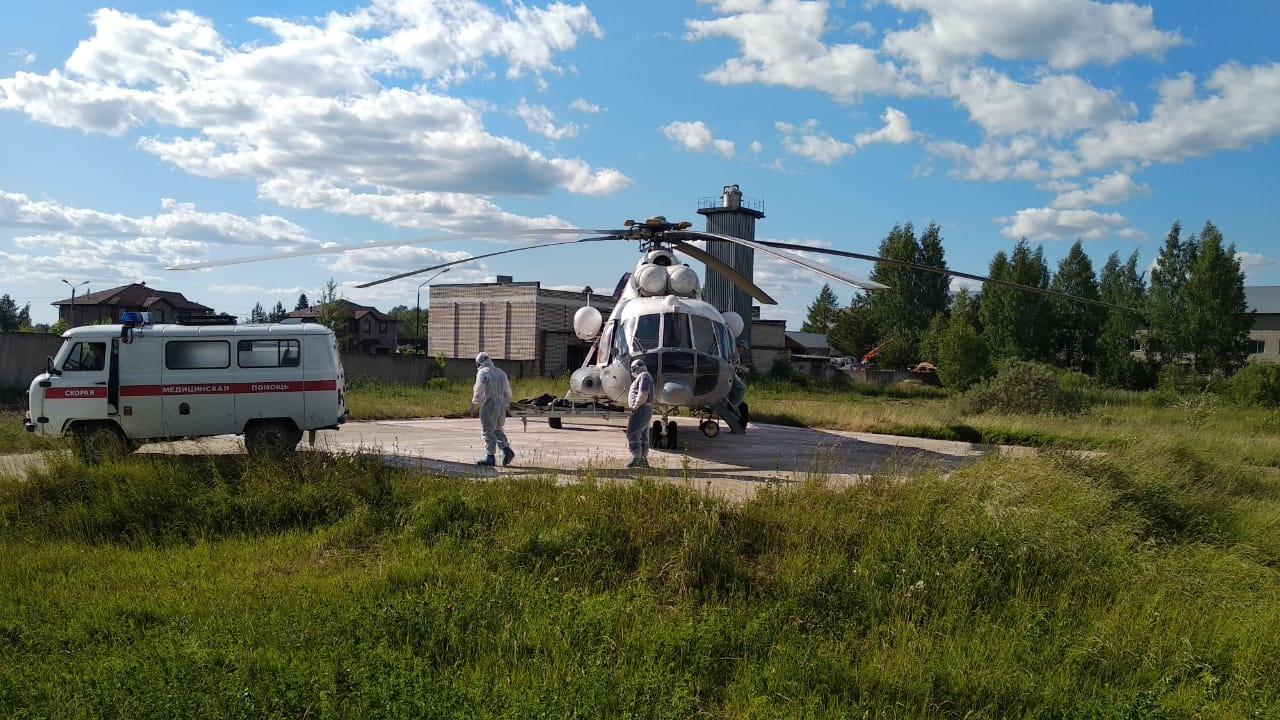 Вертолёт санавиации доставил трех пациентов в Тверь