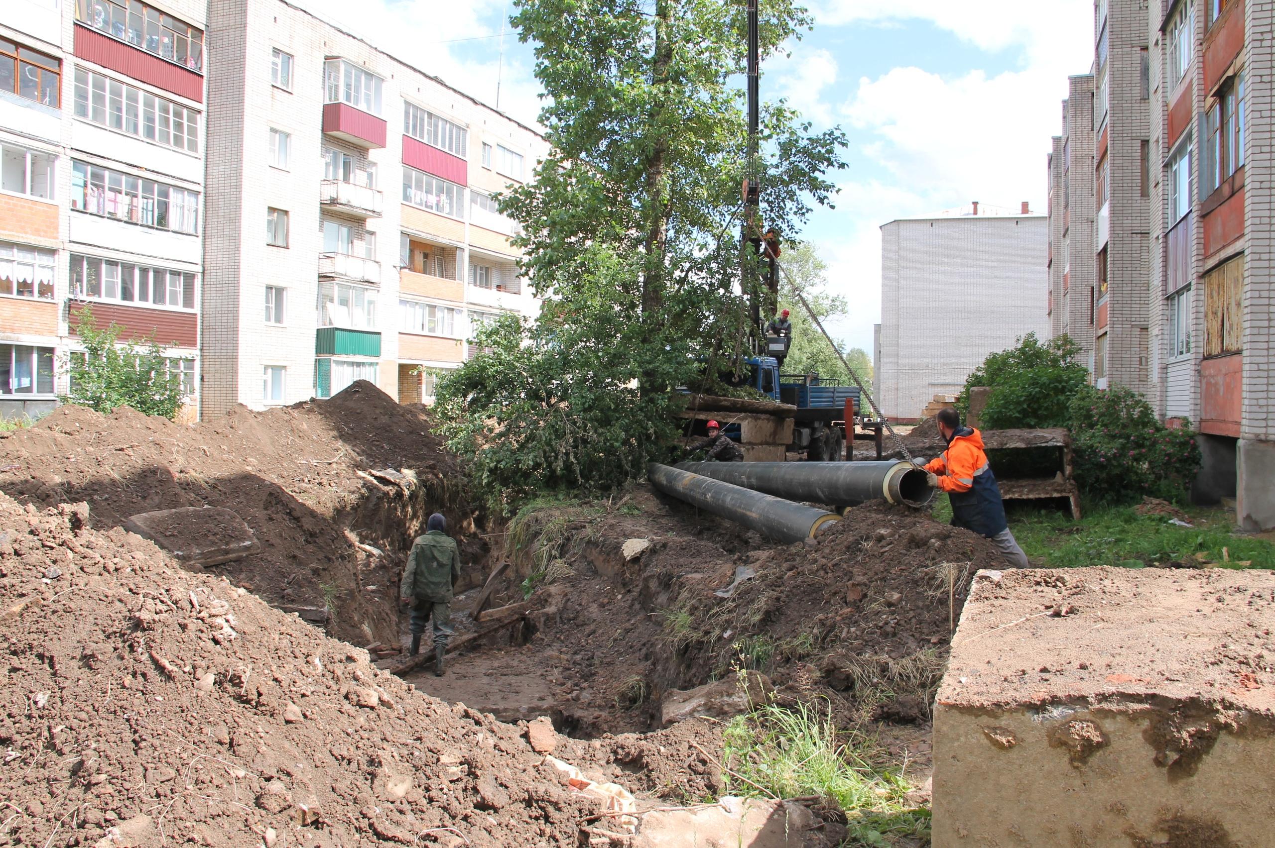 В Нелидовском городском округе отремонтировали полтора километра отопительных труб