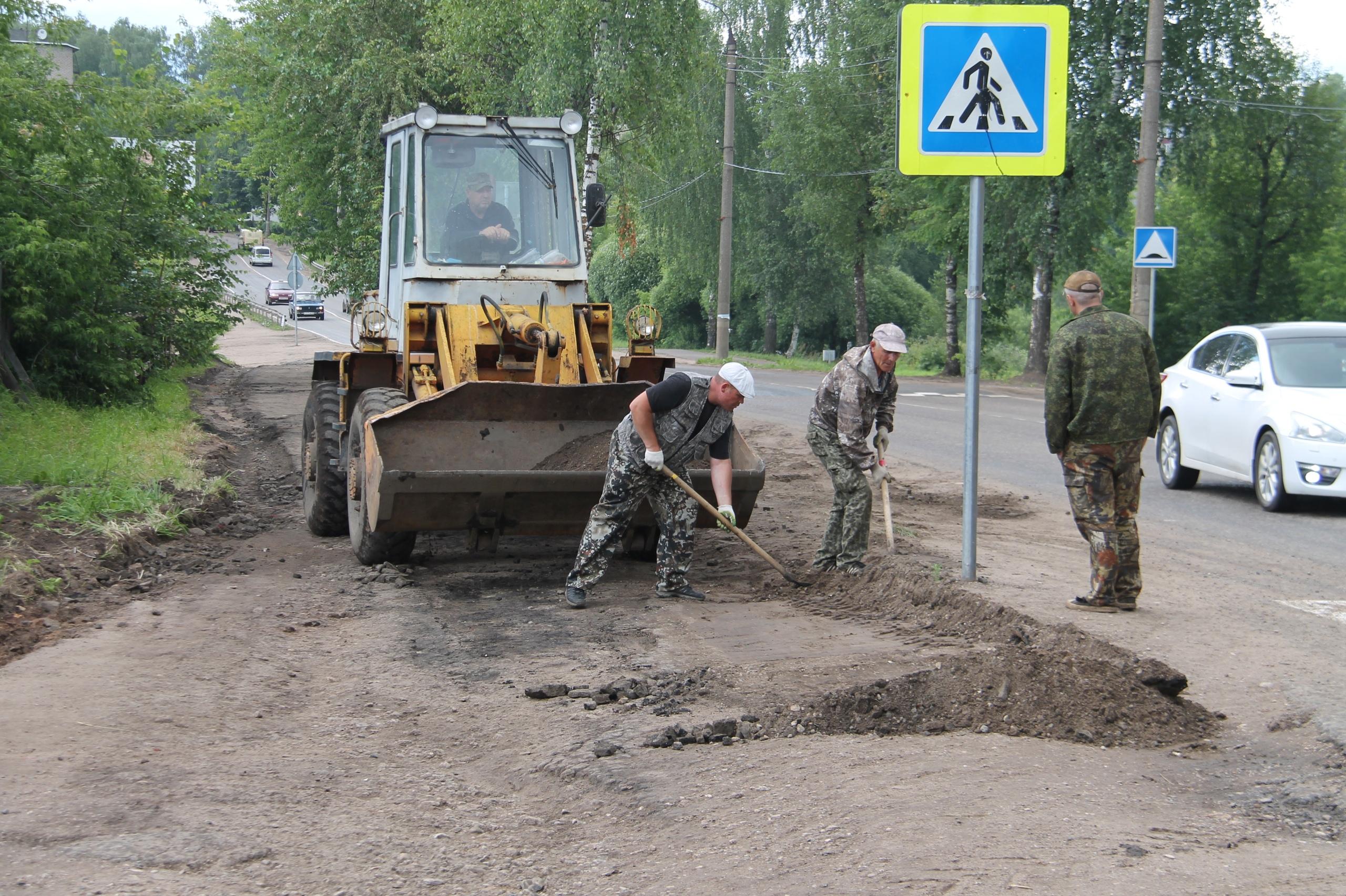 В Нелидово занялись ремонтом тротуаров