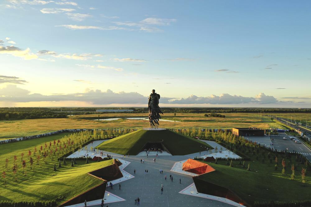 Ржевский мемориал сняли с высоты птичьего полета