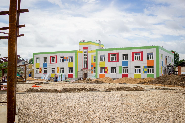 Строительство нового детского сада в Лихославле выходит на завершающий этап