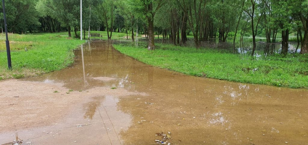 В Твери затопило ландшафтный парк Тьмака