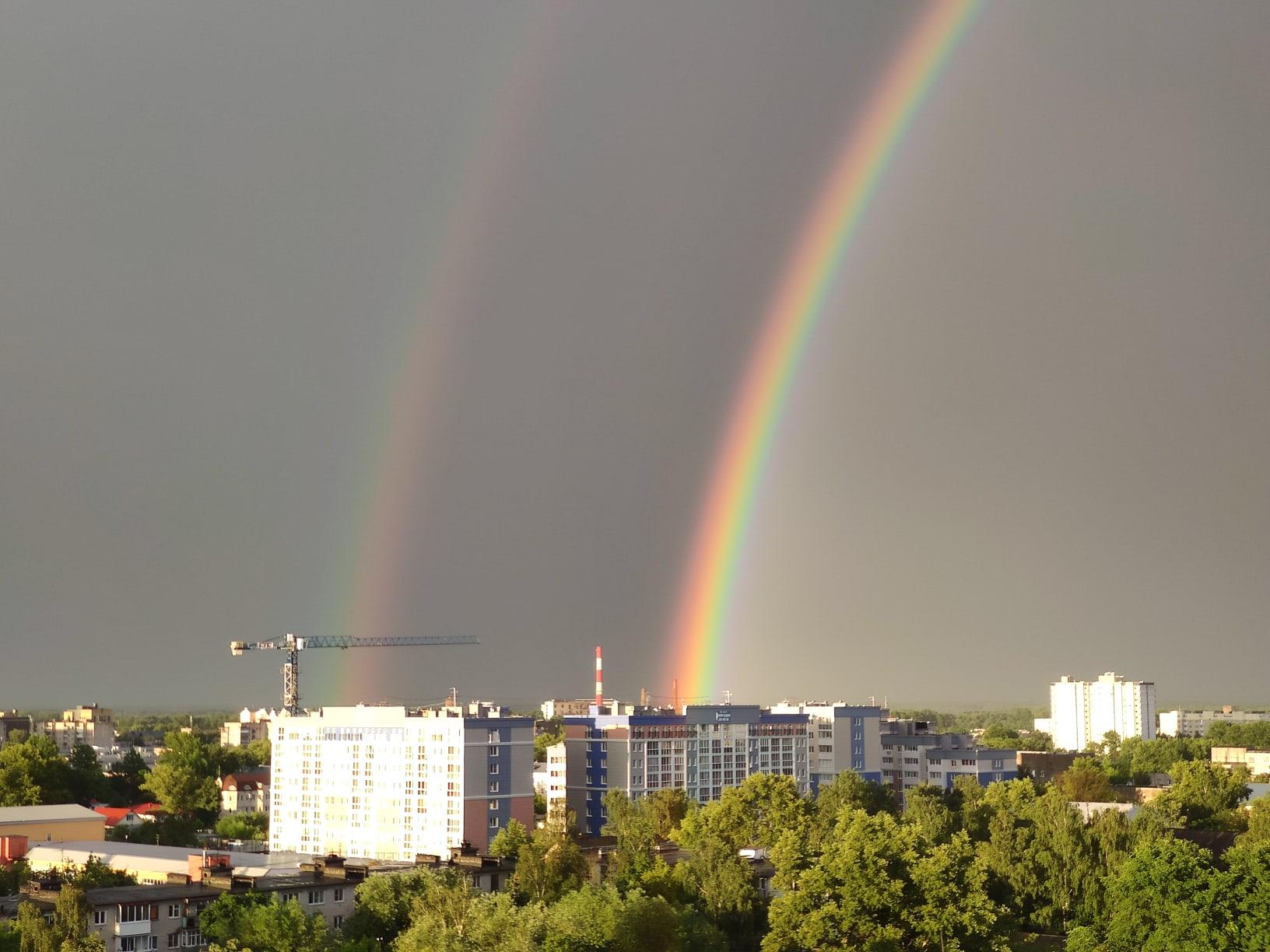 В Твери появилась редкая двойная радуга