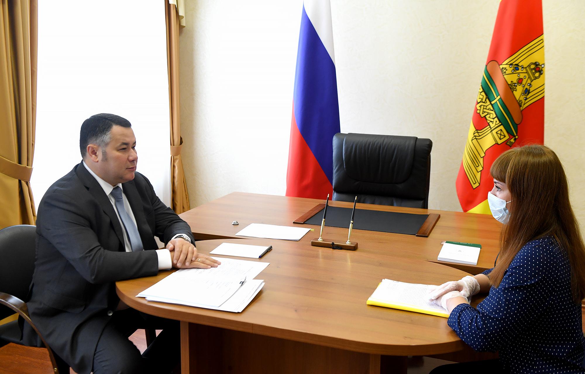 К губернатору Тверской области обратилась жительницамногоэтажки по вопросу проведения веёдоме ремонтакрыши