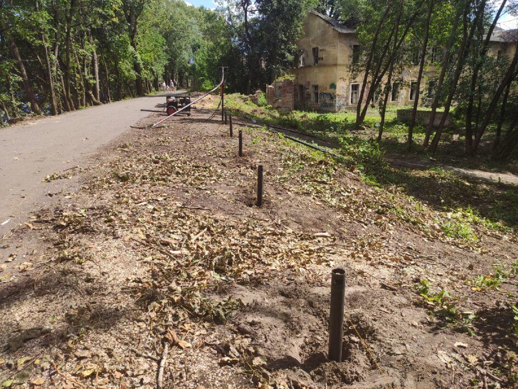 Тверской парк «Воксал» готовится к ограждению территории