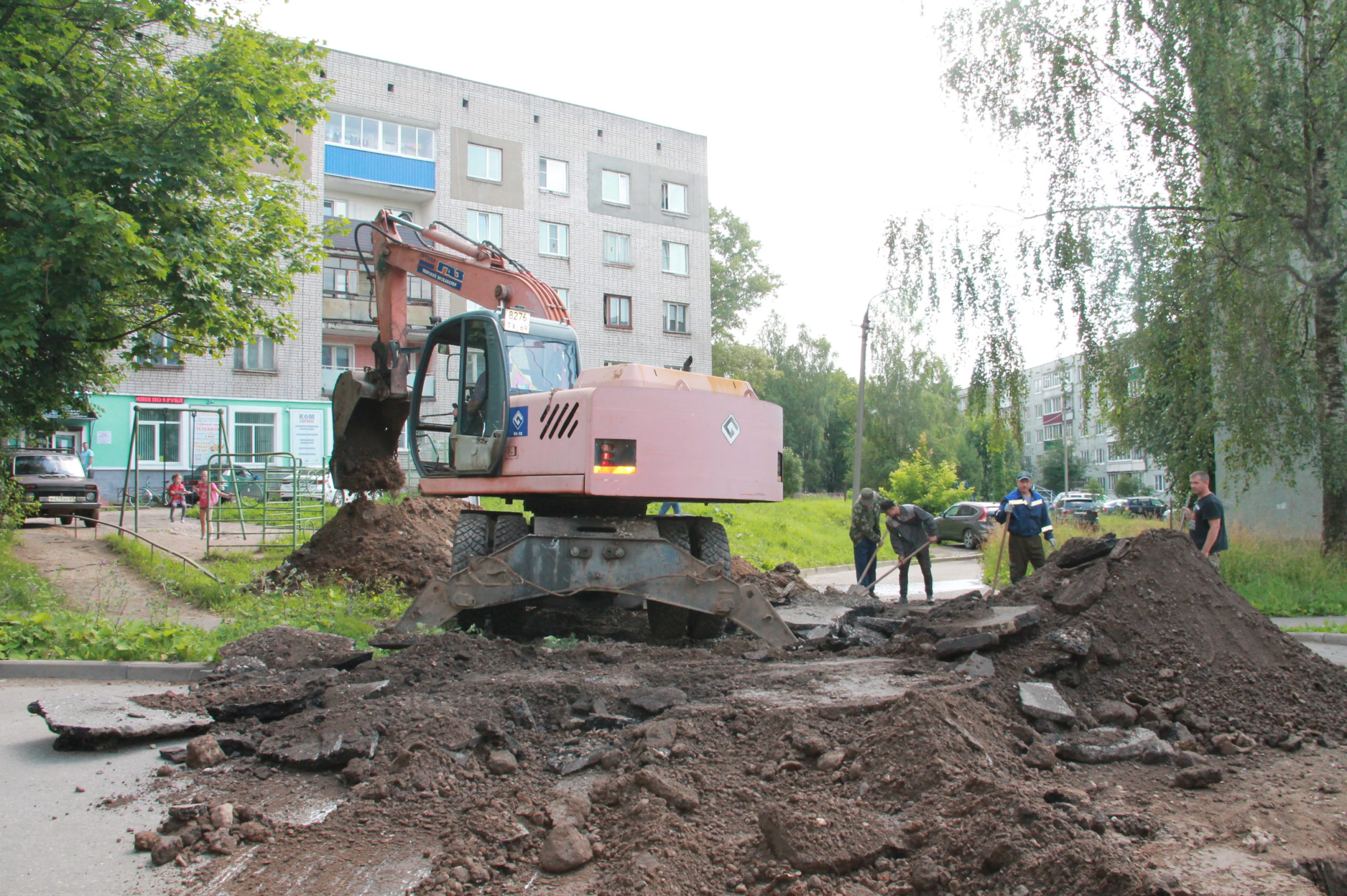 В Нелидовском районе проходит ремонт тепловых сетей