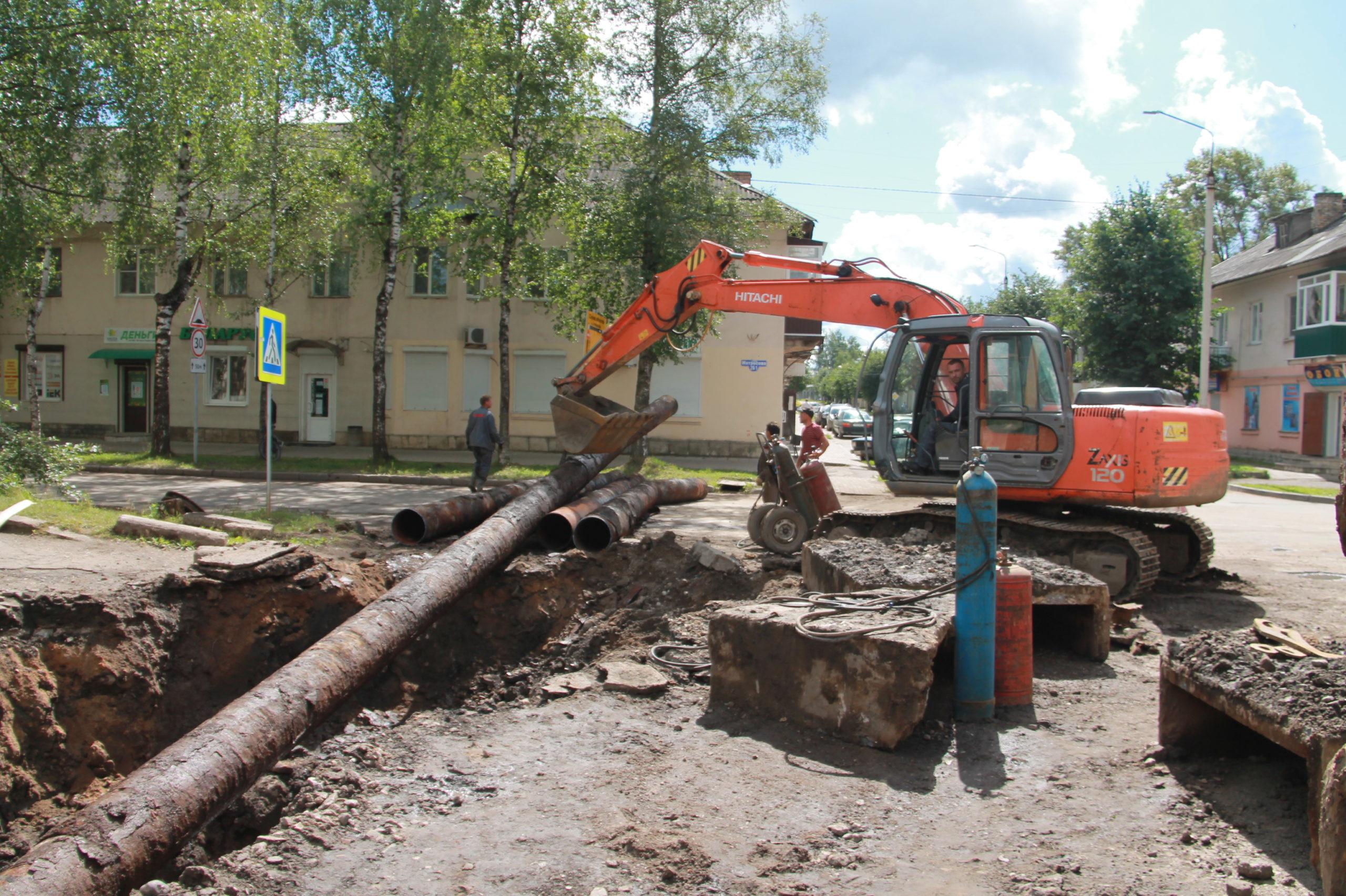 В Нелидово проходит капитальный ремонт теплотрассы