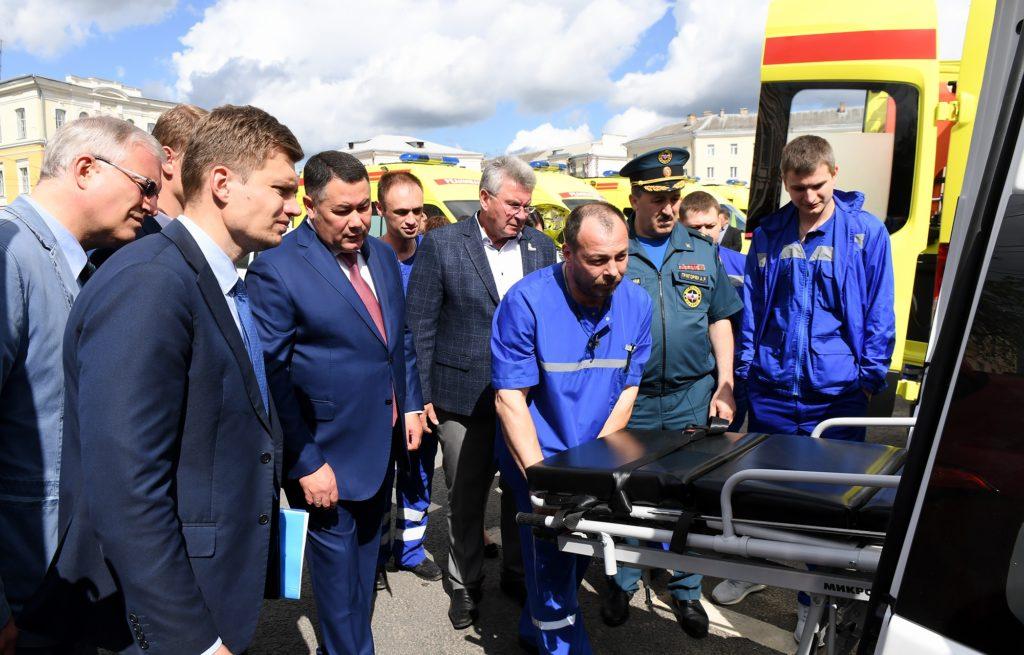 Новые автомобили скорой помощи передали медицинскимучреждениям Тверской области