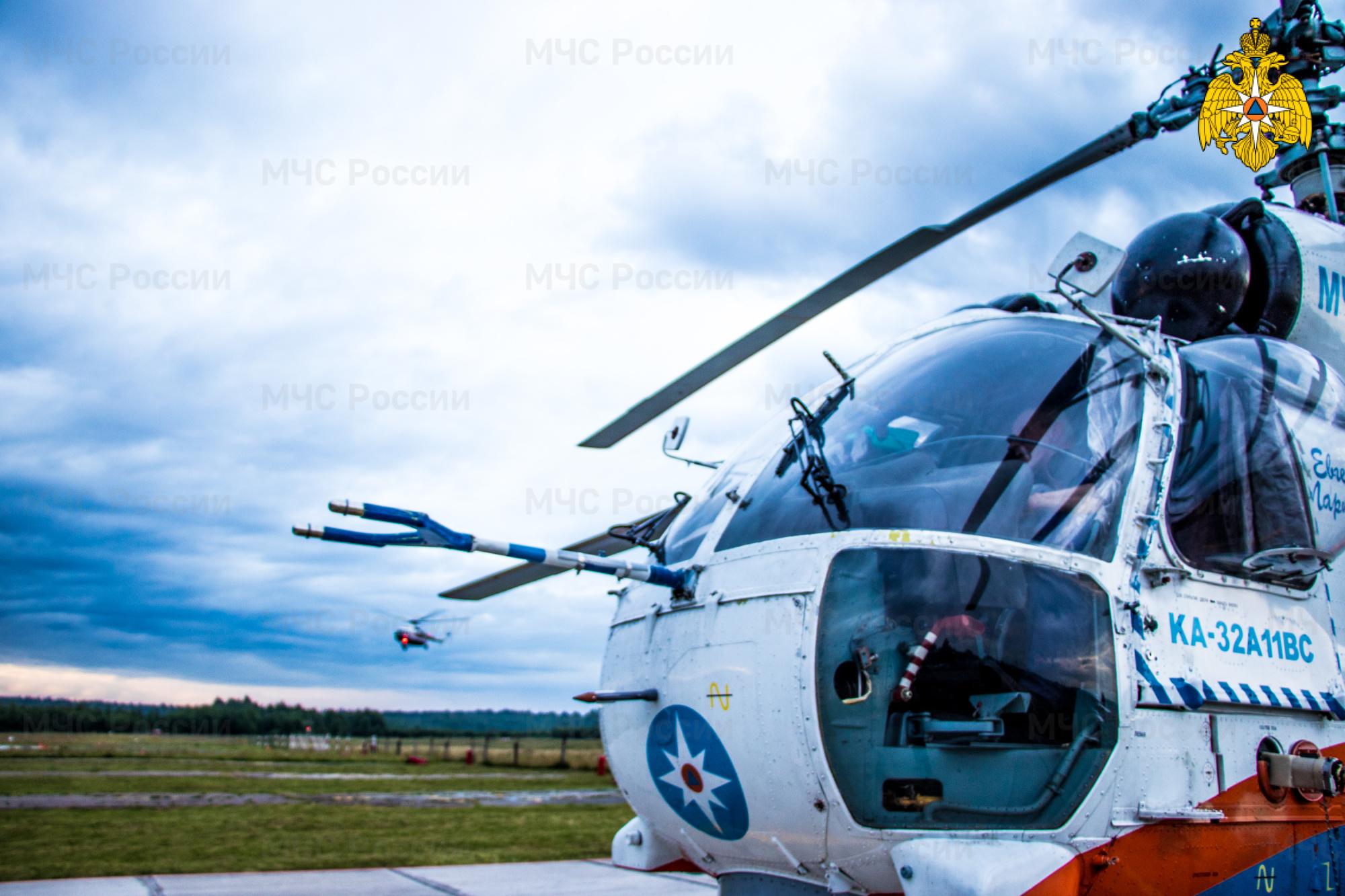 Появилось видео учений авиации МЧС Тверской области