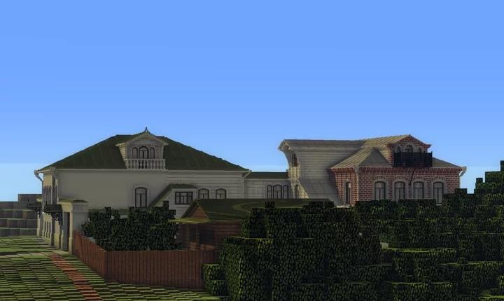 Усадьбу 19 века создал в игре Minecraft житель Тверской области