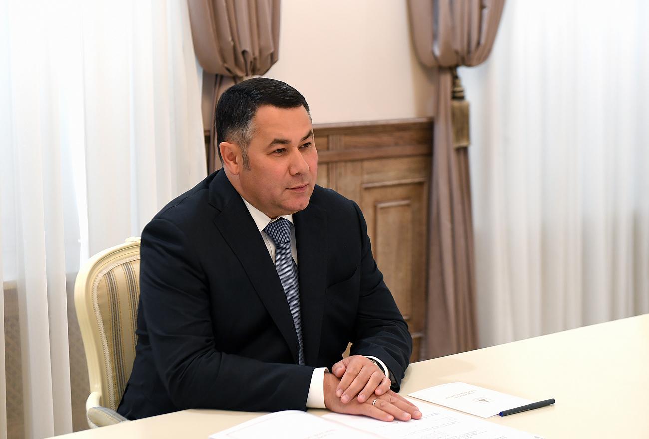 Игорь Руденя встретился с главой Торжокского района Еленой Хохловой