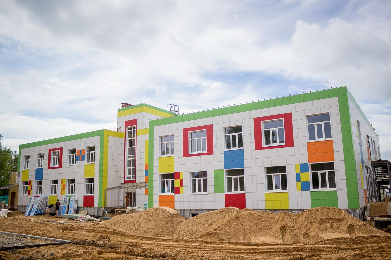 В Лихославле завершается строительство нового детского сада