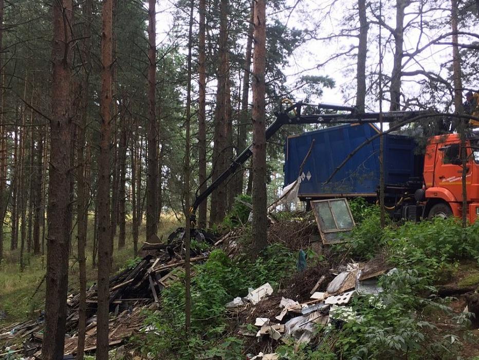 В Конаковском районе региональный оператор убрал стихийную свалку