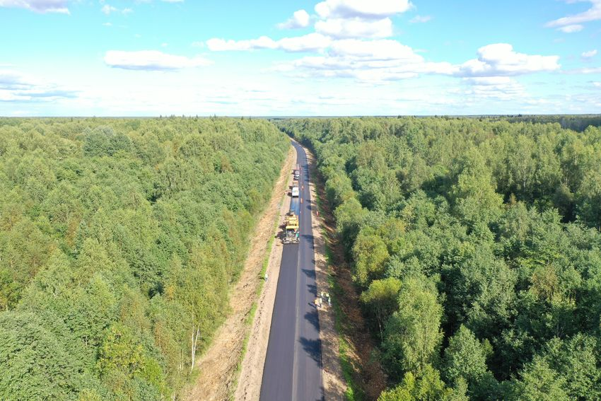 В Тверской области завершается ремонт автодороги Тверь – Рождествено – 1-е Мая – Ильинское