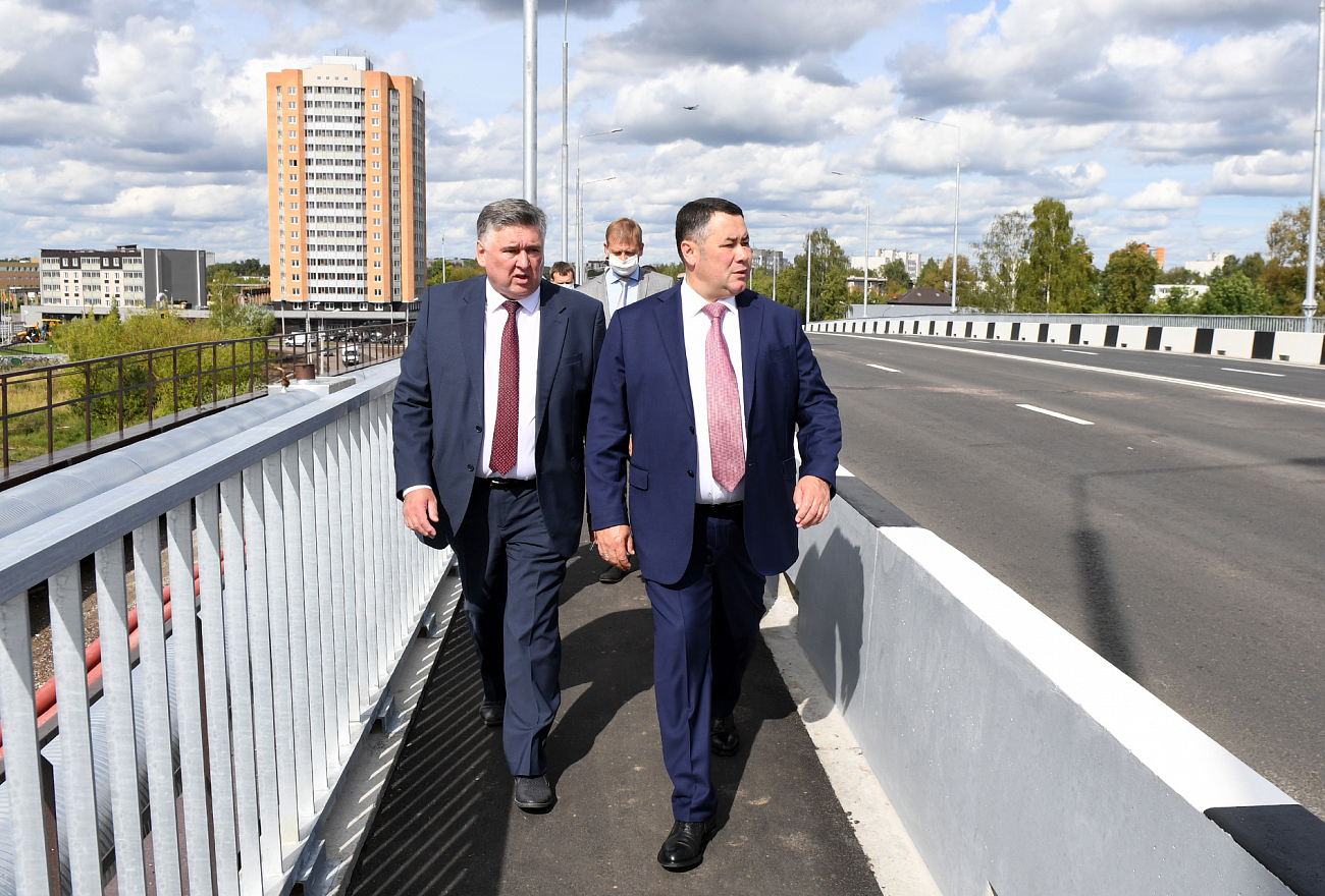 Игорь Руденя посетил с инспекцией Крупский мост