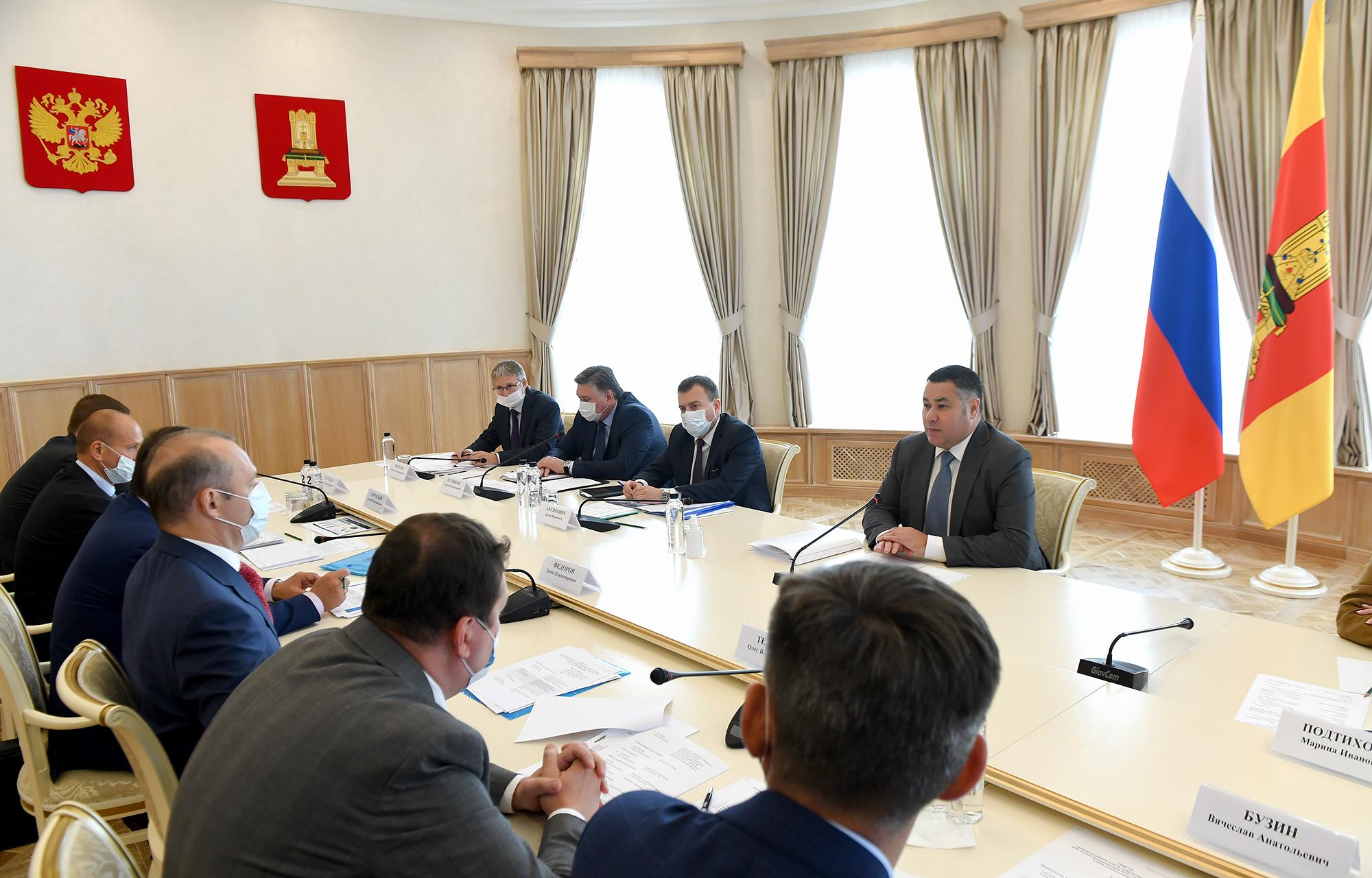 Игорь Руденя обсудил с руководством ПАО «Газпром» газификацию Тверской области