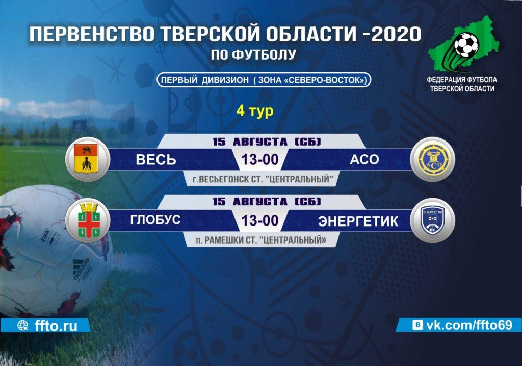 Опубликовано расписание матчей Чемпионата и Первенства Тверской области по футболу