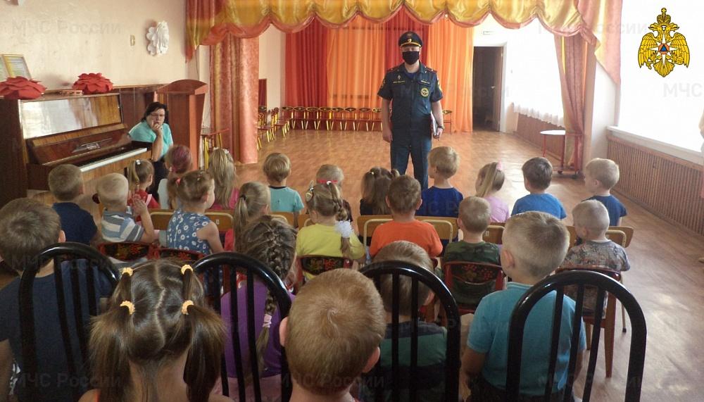 В Тверской области детям рассказали, как вести себя в случае пожара