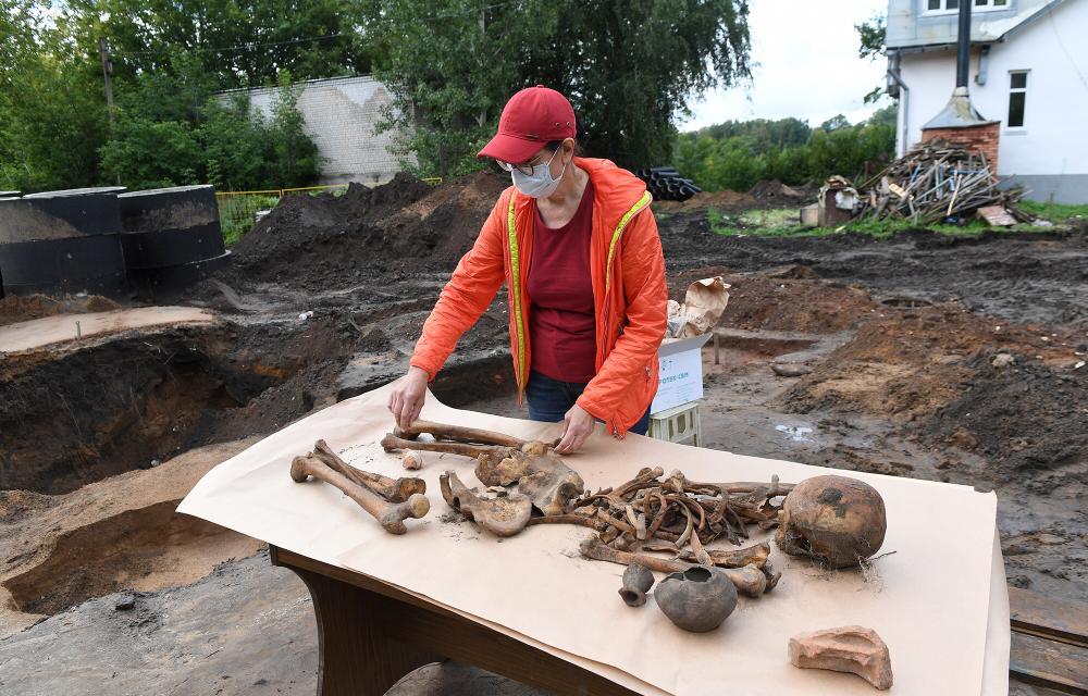 В центре Твери обнаружен древний некрополь