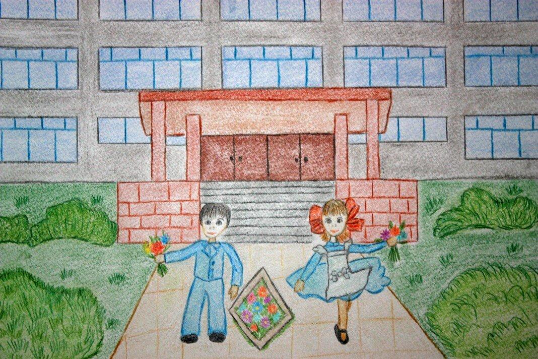 Работа победителя конкурса детских рисунков «Школа, я скучаю» появится на почтовой открытке