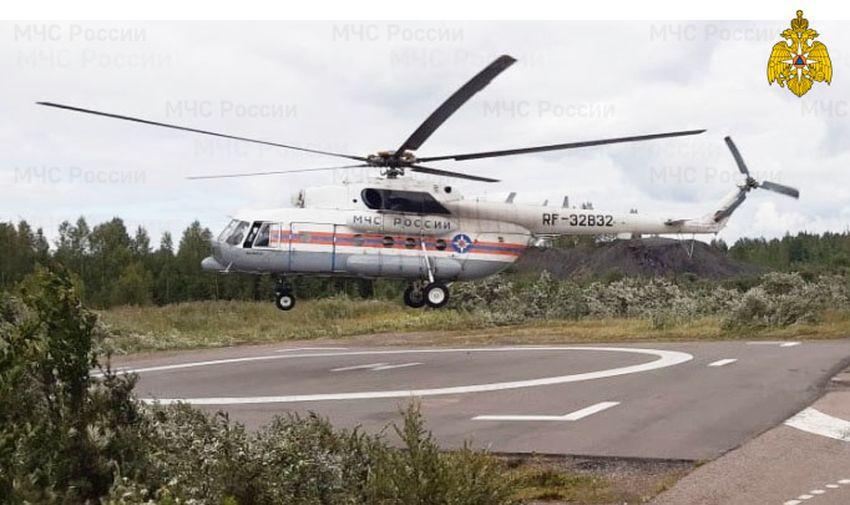 Вертолет санавиации вылетал в Удомлю для спасения мужчины