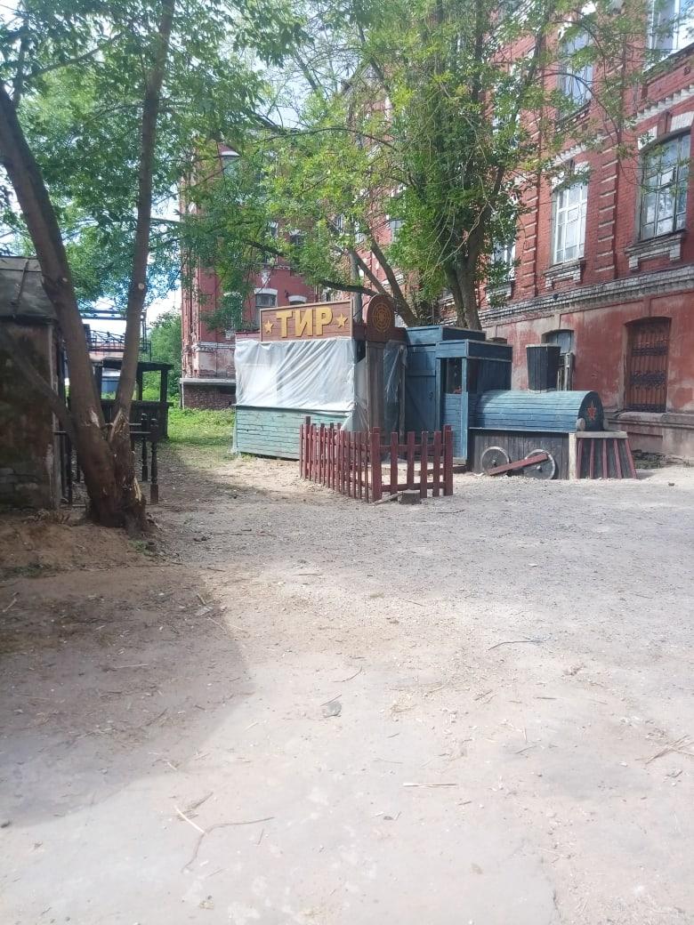 Морозовский городок в Твери превратился в съемочную площадку