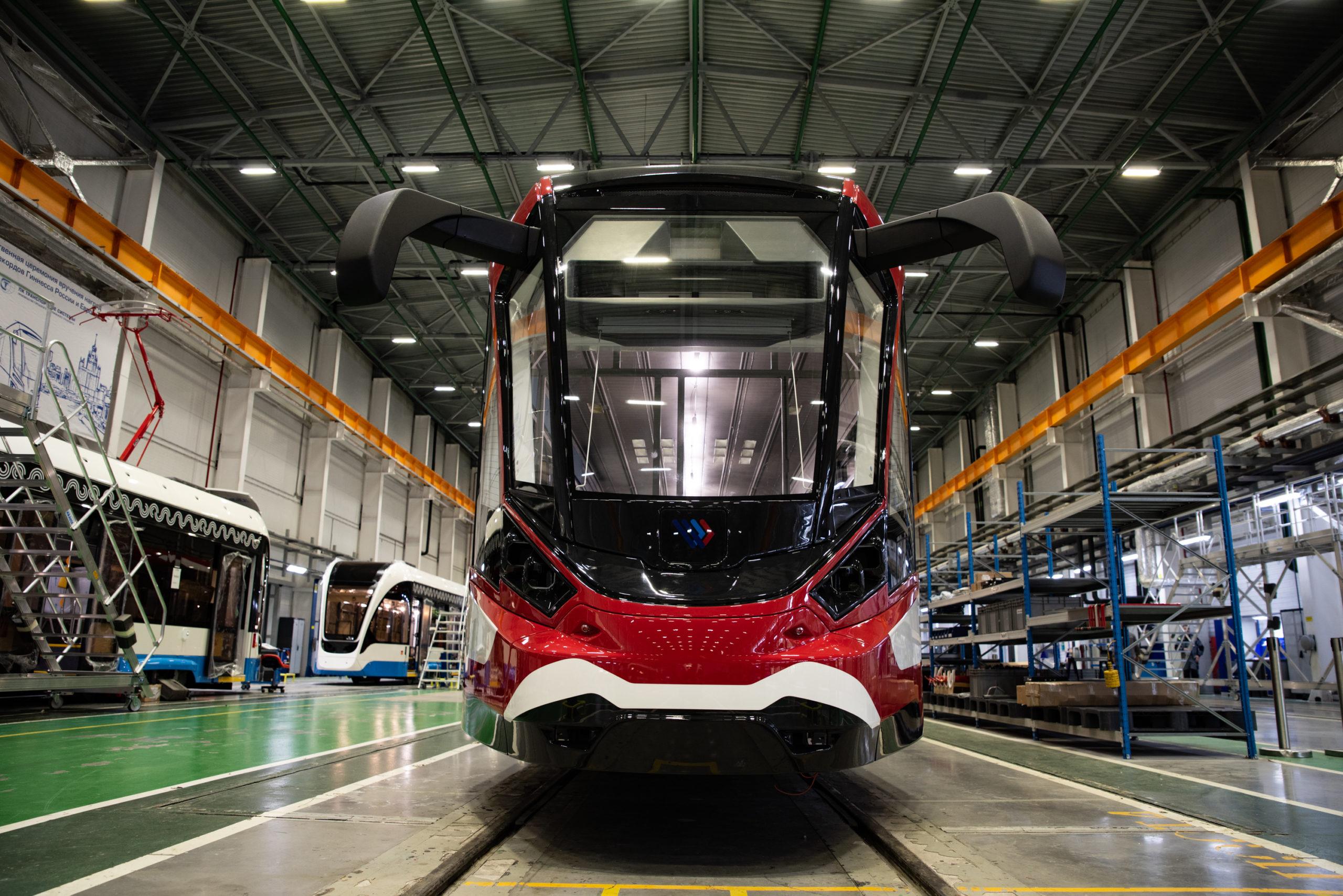 Тверской механический завод изготовил первый в России алюминиевый трамвай