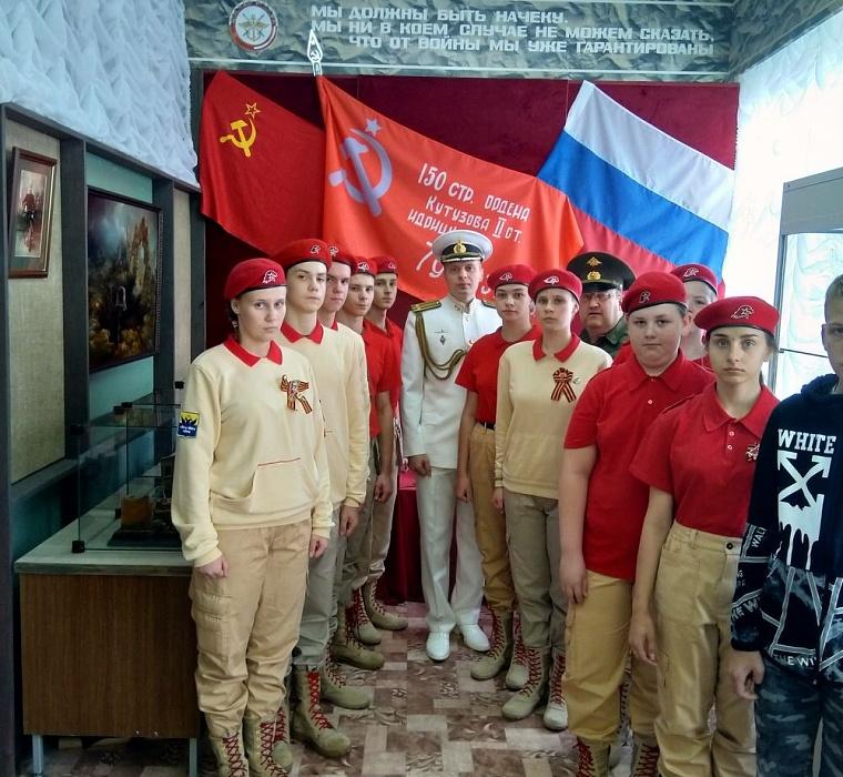 Осташковские юнармейцы встретились с командиром подводной лодки