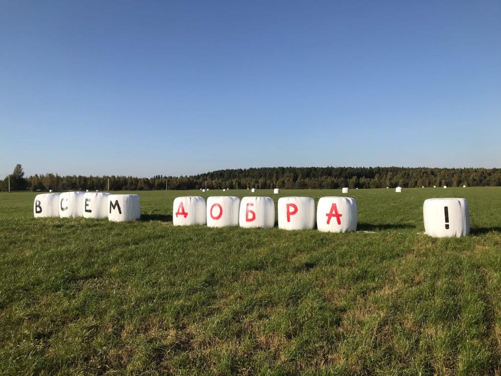 Послание на полях: фермеры Тверской области создали арт-объект