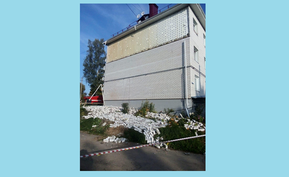 В Тверской области в доме для переселенцев рухнула стена
