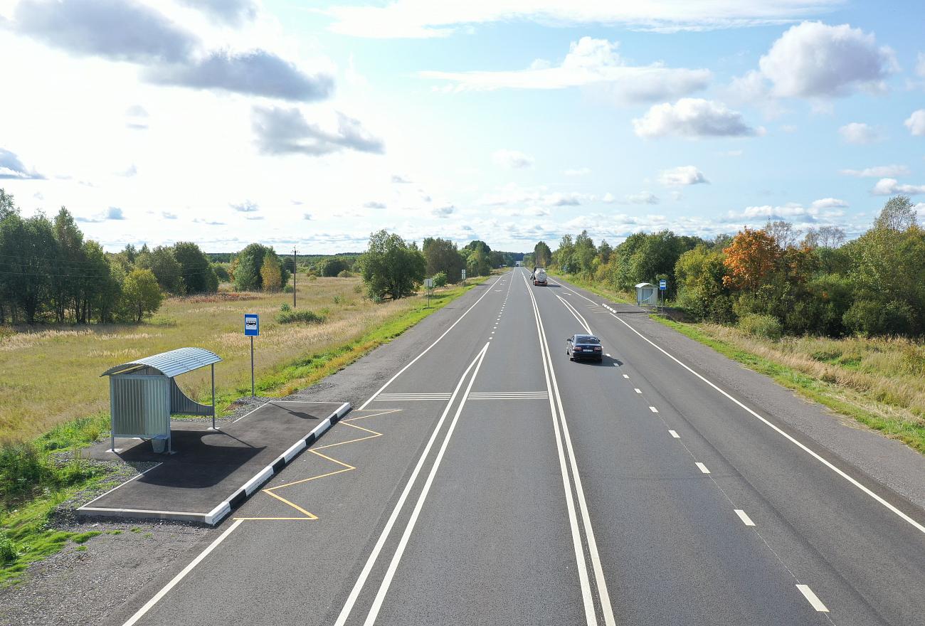 25 километров автодороги в Тверской области введены в эксплуатацию после ремонта