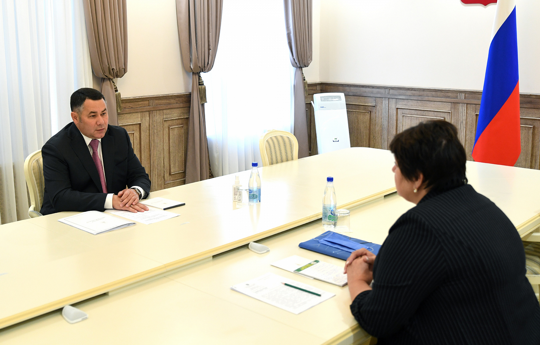 Губернатор Тверской области встретился с главой Лихославльского района