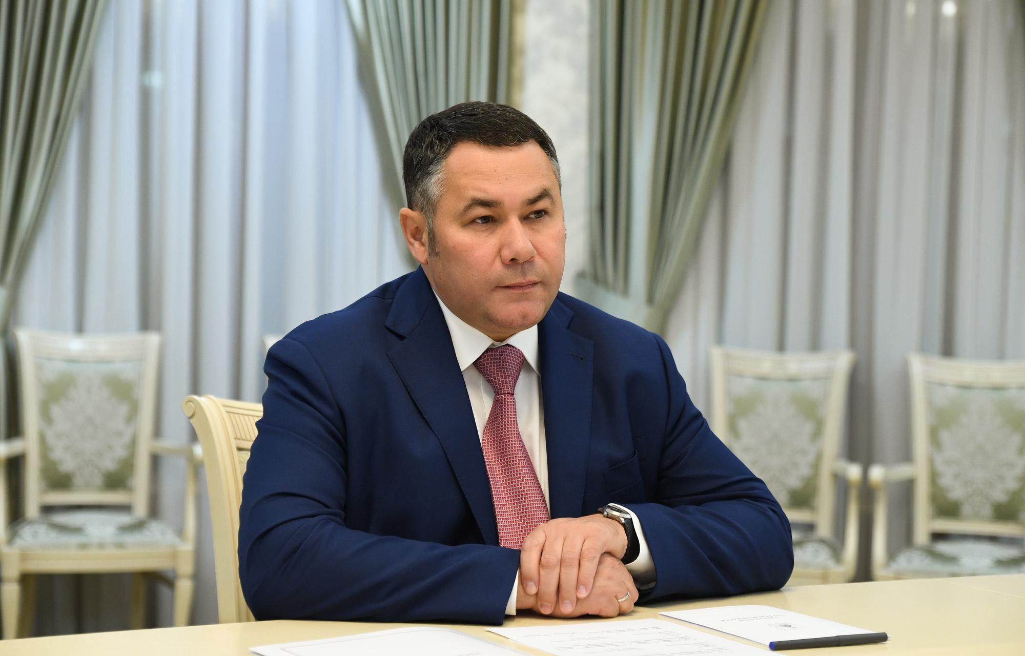 Игорь Руденя провел встречу с главой Кесовогорского района    Сергеем Тарасовым