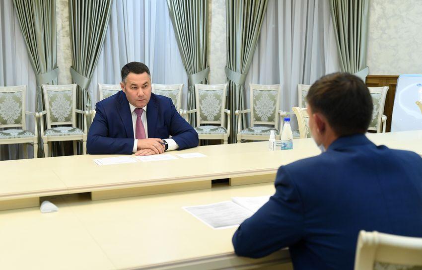 Губернатор Игорь Руденя встретился с главой Спировского района