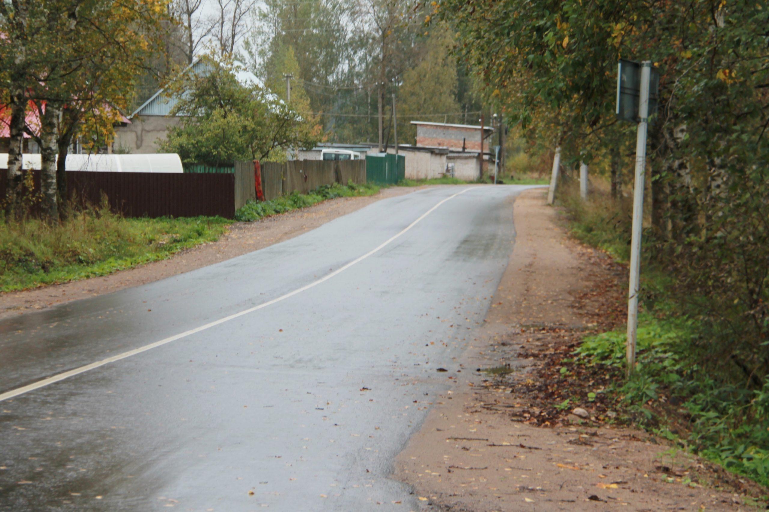 В Нелидовском районе завершили ремонт дорог