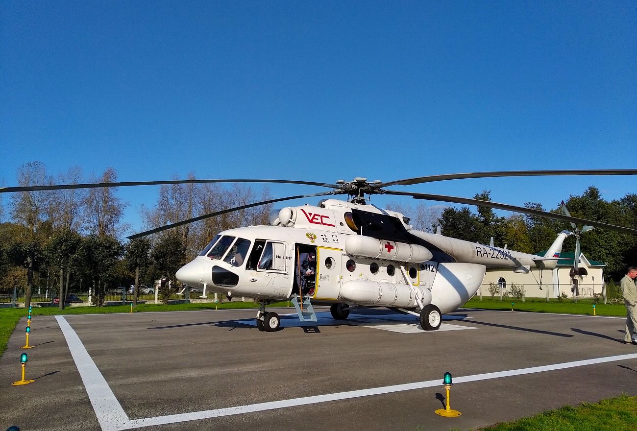 Молодую женщину в тяжелом состоянии доставили на вертолете санавиации в Тверь