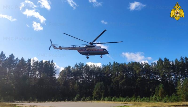 Тяжелобольного ребенка эвакуировали на санитарном вертолете в Тверь