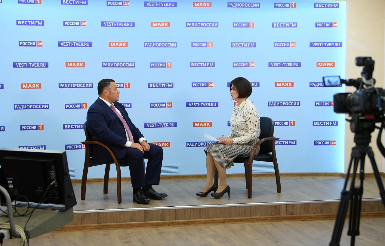 Борьба с коронавирусом, рост рейтинга и школьные каникулы: о чём говорил губернатор Тверской области в прямом эфире