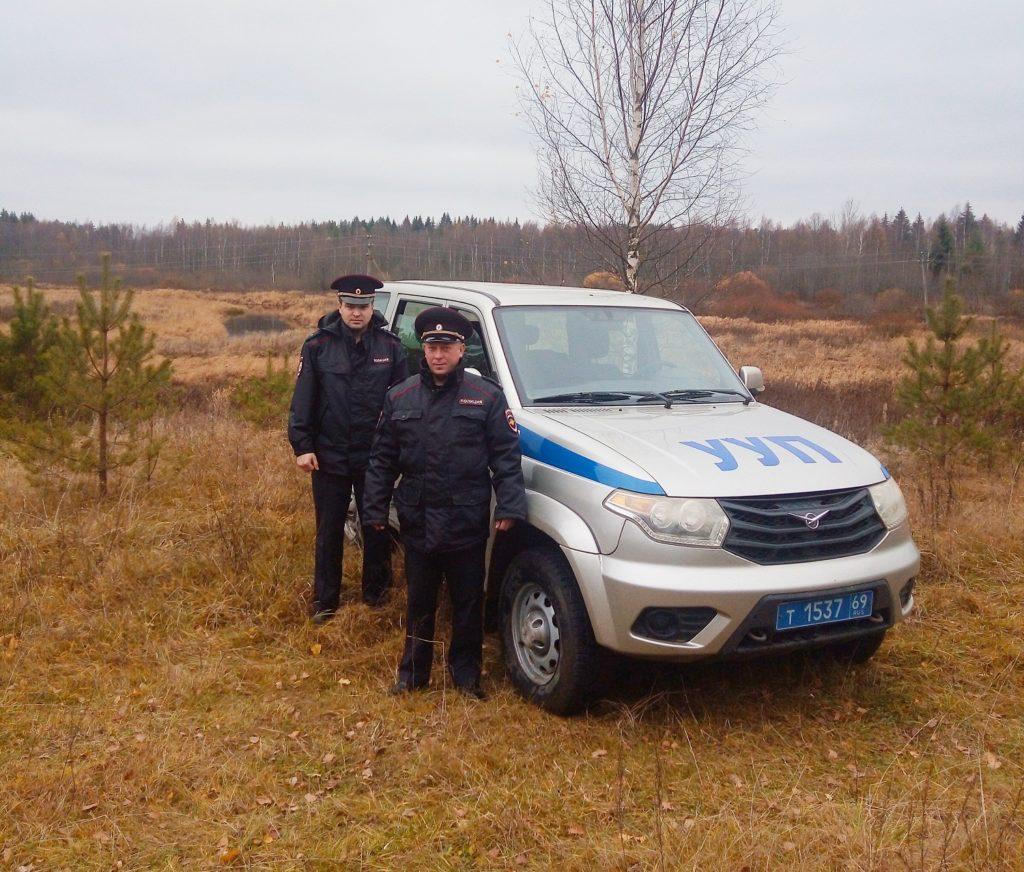 Пенсионерка поблагодарила полицейских за поиск пропавшего мужа в Тверской области