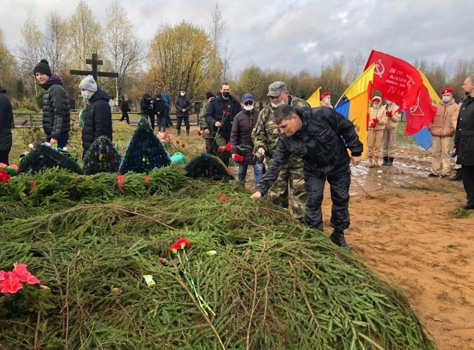 Останки 25 красноармейцев перезахоронены в Осташковском городском округе