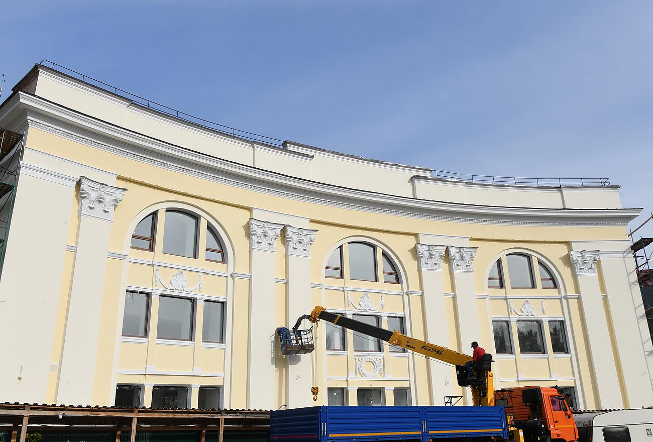 Фасад нового Дворца бракосочетаний в Твери капитально отремонтировали