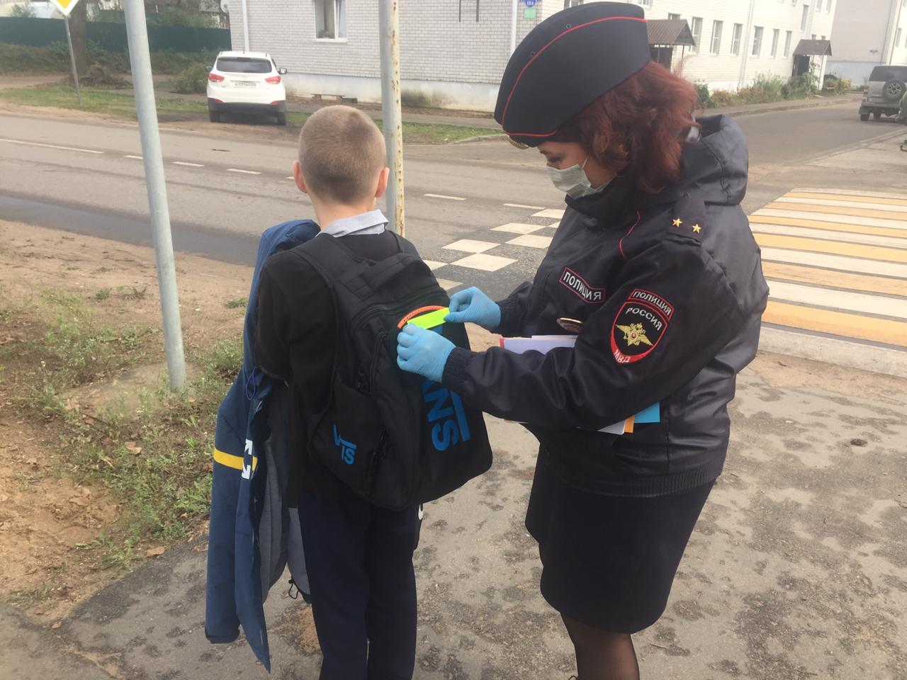 В Западной Двине школьники «засветились» на дорогах