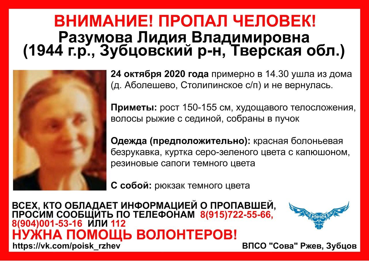 В Тверской области пропала 76-летняя женщина с рюкзаком