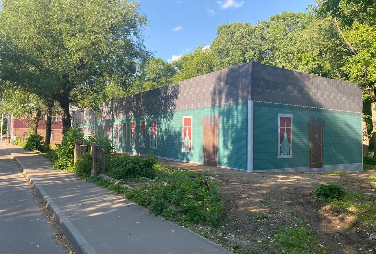В Тверском парке Воксал ремонтируют здания начала ХХ века
