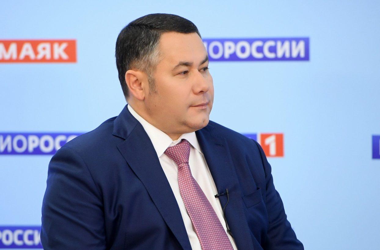 Прямой эфир с губернатором Игорем Руденей на телеканале «Россия 24»