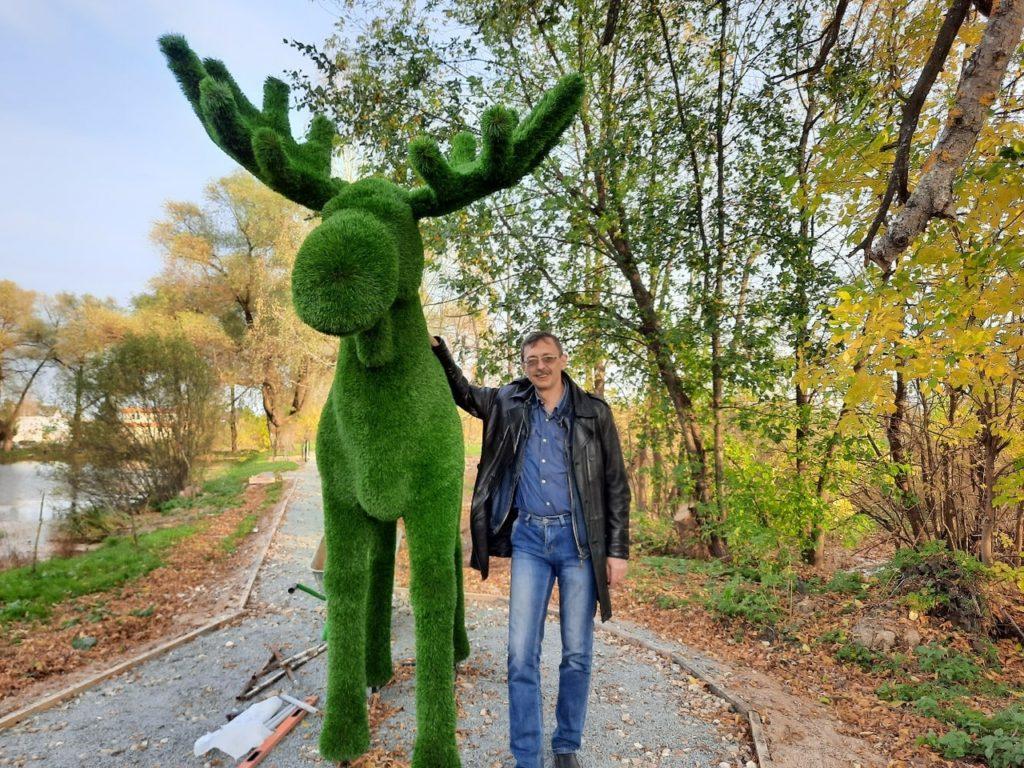 В Оленино появился арт-объект с символом города