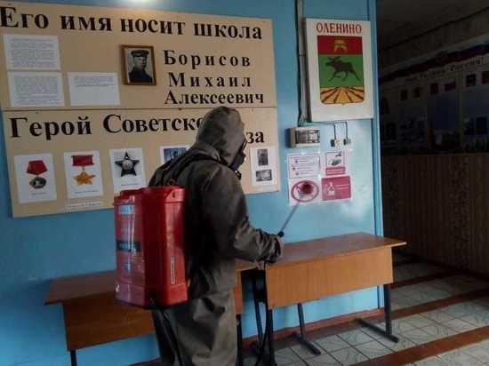 В Оленинских школах проводят санитарную обработку помещений