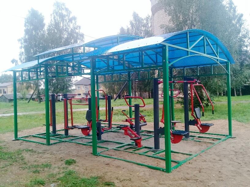 В Лихославльском районе установили новые уличные тренажеры