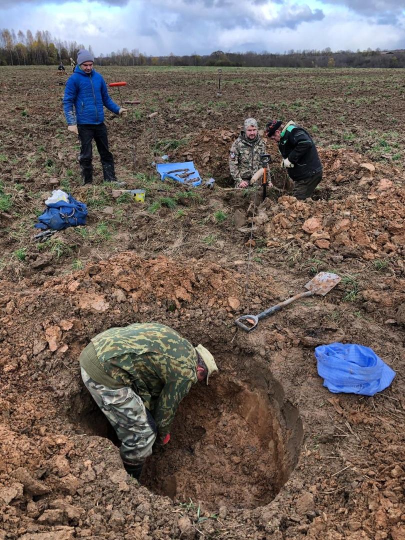 Подо Ржевом нашли останки 12 красноармейцев, погибших в 1942 году