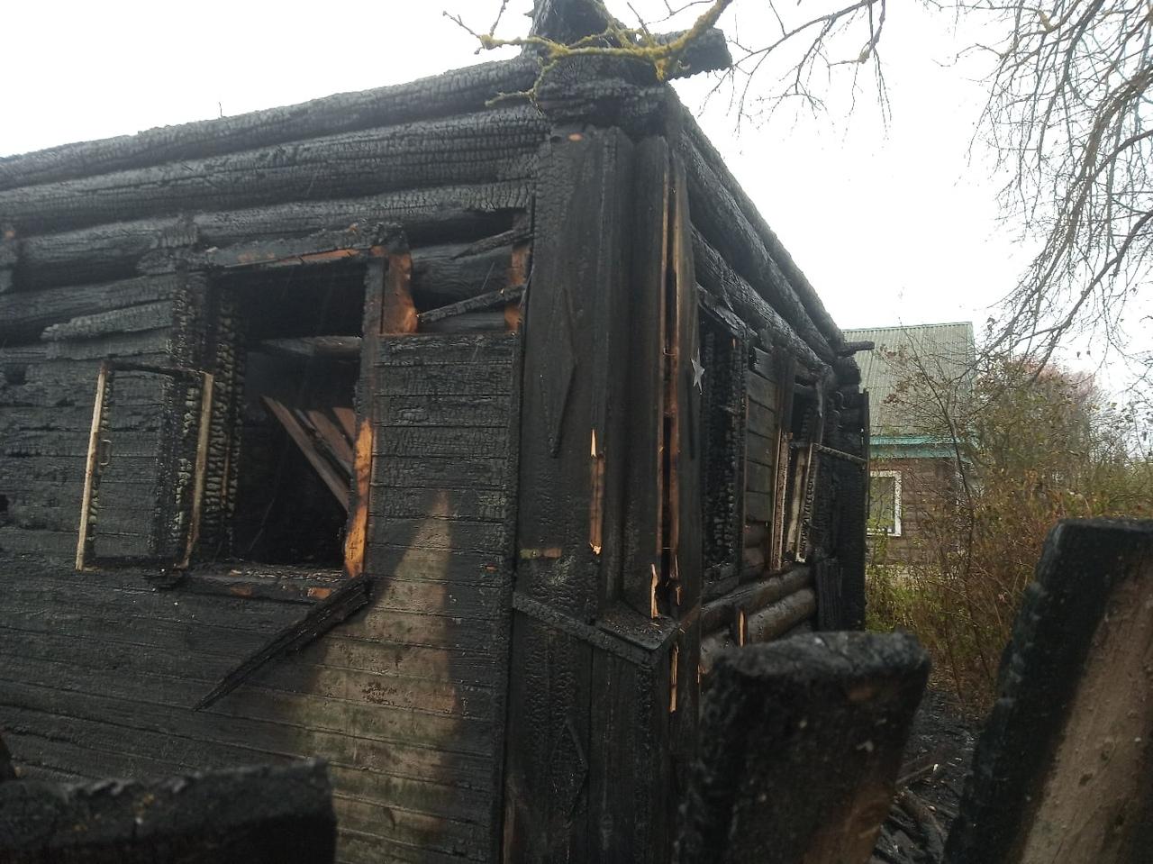 Хозяин сгоревшего дома под Тверью спасся, выскочив в окно